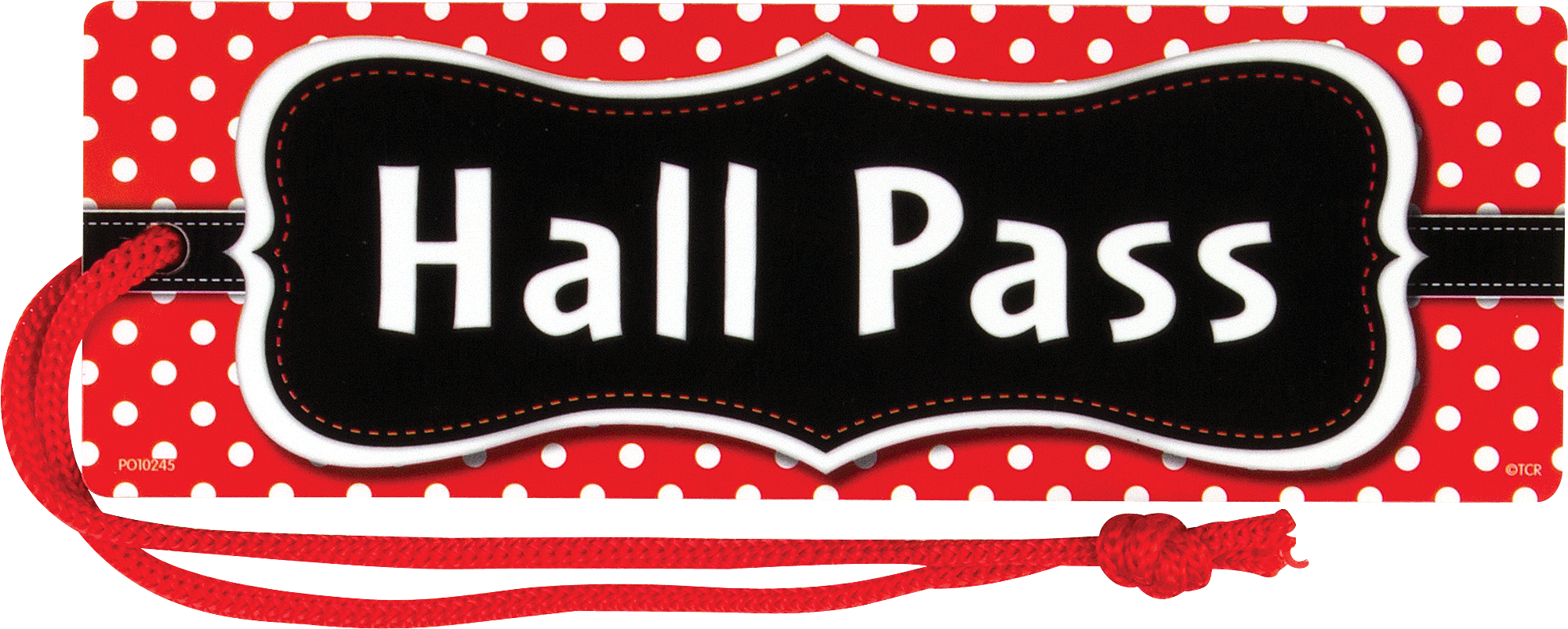 Red Polka Dots Magnetic Hall Pass
