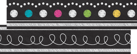 Chalkboard Brights Ribbon Runner