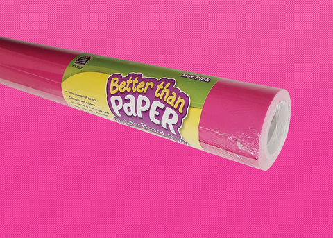 Hot Pink Better Than Paper¬ Bulletin Board Roll