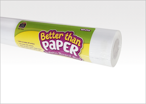 White Better Than Paper¬ Bulletin Board Roll