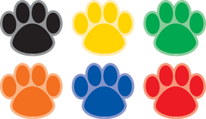 Spot On¬ Paw Prints Carpet Markers - 4""