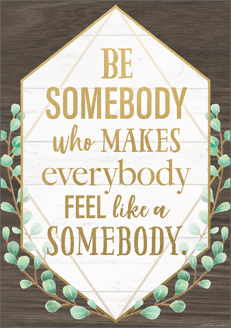 Be Somebody Who Makes Everybody Feel like a Somebody Positive Poster