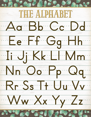 Eucalyptus The Alphabet Chart
