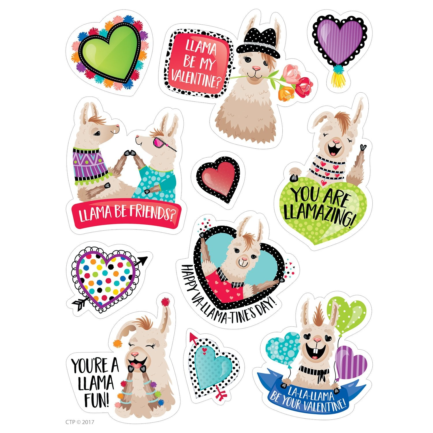 LLAMA BE MY VALENTINE? REWARD STICKERS