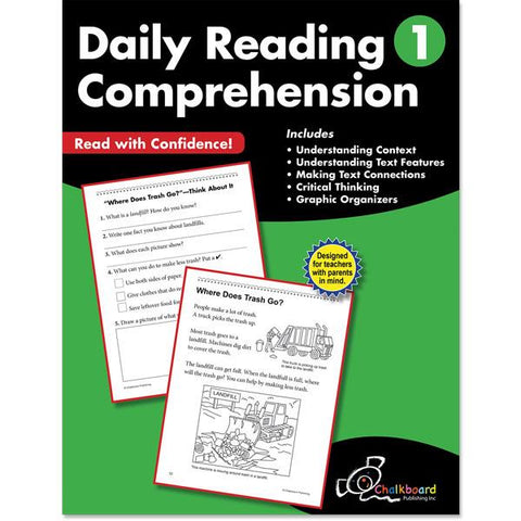 DAILY READING COMPREHENSION GRADE 1 CHALKBOARD WORKBOOK