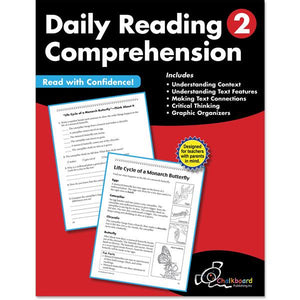 DAILY READING COMPREHENSION GRADE 2 CHALKBOARD WORKBOOK