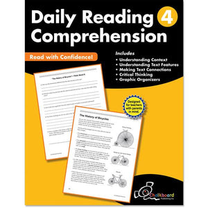 DAILY READING COMPREHENSION GRADE 4 CHALKBOARD WORKBOOK