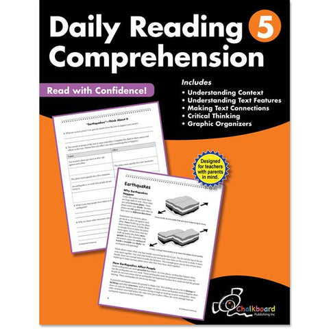 DAILY READING COMPREHENSION GRADE 5 CHALKBOARD WORKBOOK