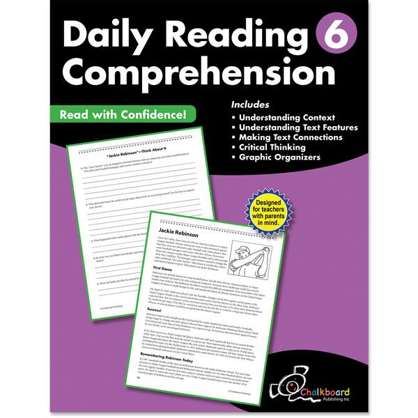 DAILY READING COMPREHENSION GRADE 6 CHALKBOARD WORKBOOK