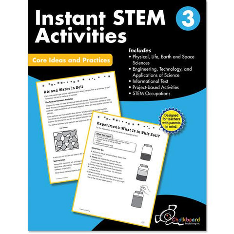 STEM GRADE 3 CHALKBOARD WORKBOOK