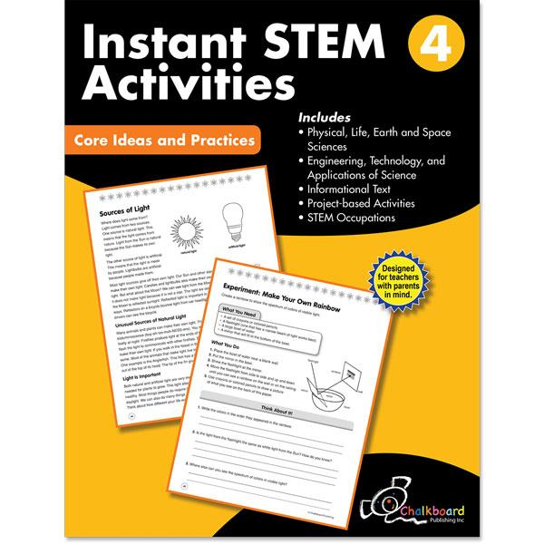 STEM GRADE 4 CHALKBOARD WORKBOOK