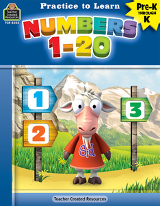 Practice to Learn: Numbers 1_20 (PreK_K)