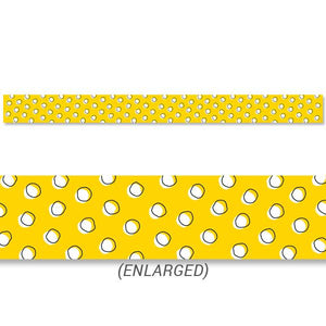 DOODLE DOTS ON YELLOW BORDER