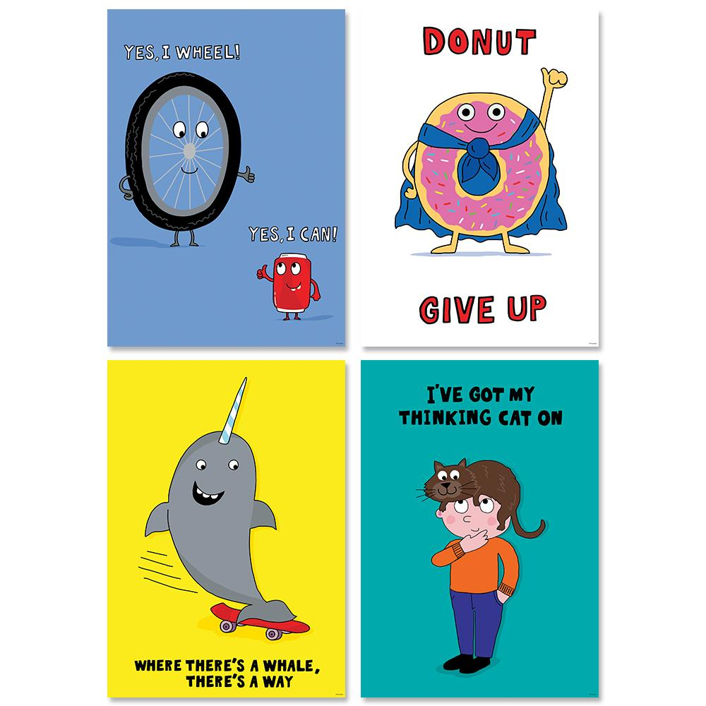 SO MUCH PUN! POSTER  4-PACK