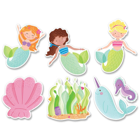 "Mystical Magical 6"" Designer Cut-Outs, Mermaid Fun"