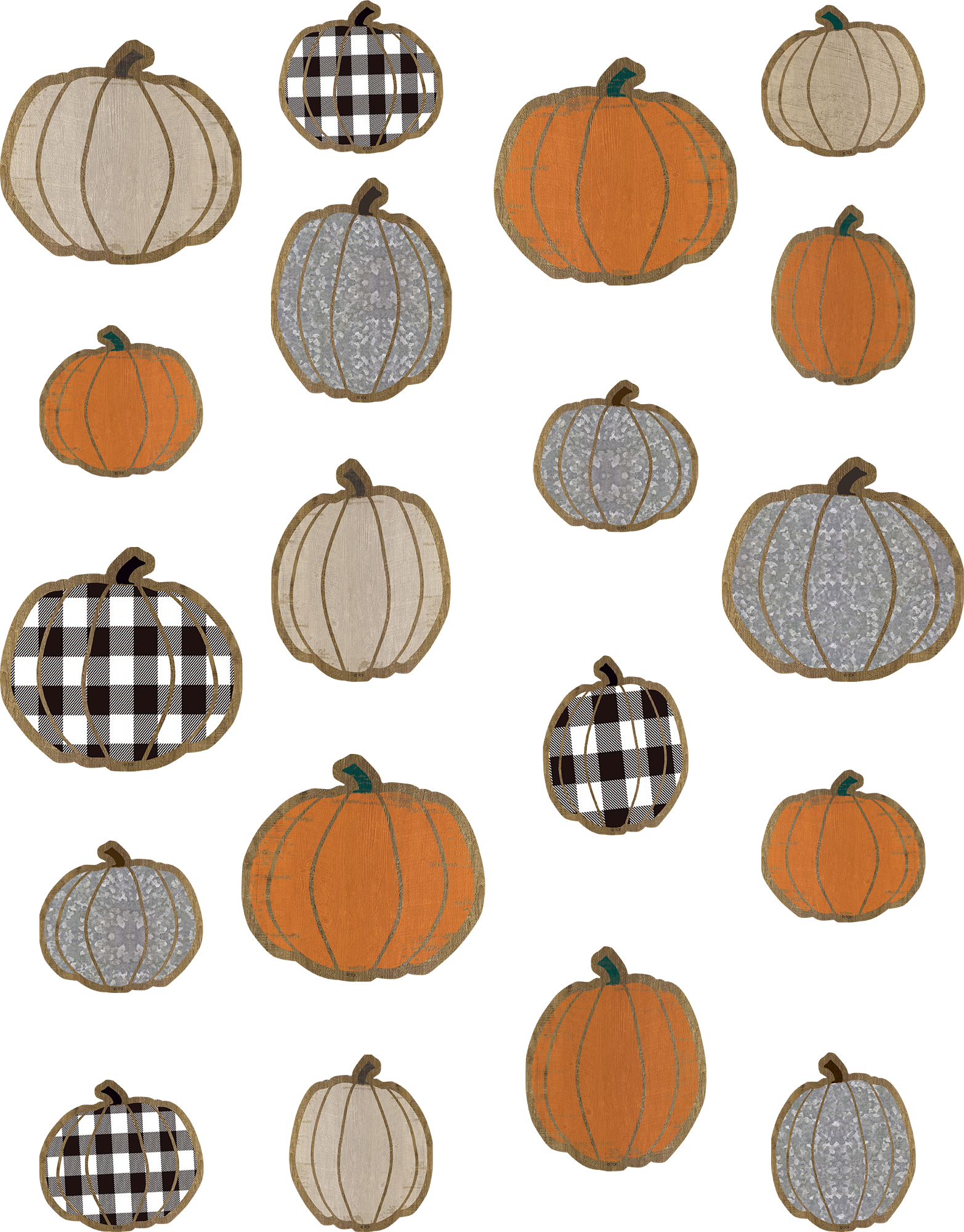Home Sweet Classroom Pumpkins Accents - Assorted Sizes