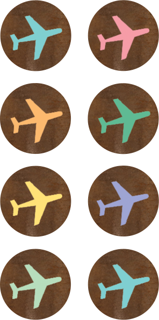 Travel the Map Airplanes Mini Stickers