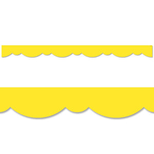 YELLOW STYLISH SCALLOPS BORDER