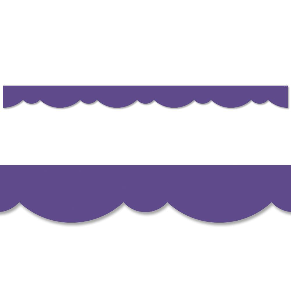 ULTRA VIOLET STYLISH SCALLOPS BORDER