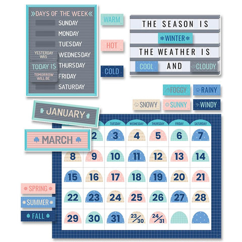 CALM COOL CALENDAR SET BULLETIN BOARDS