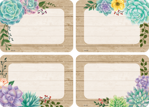 Rustic Bloom Name Tags/Labels - Multi-Pack