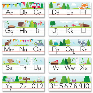WOODLAND ALPHABET LINE BULLETIN BOARDS (WF)