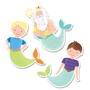 "KING NEPTUNE & FRIENDS 6"" DESIGNER CUT-OUTS"