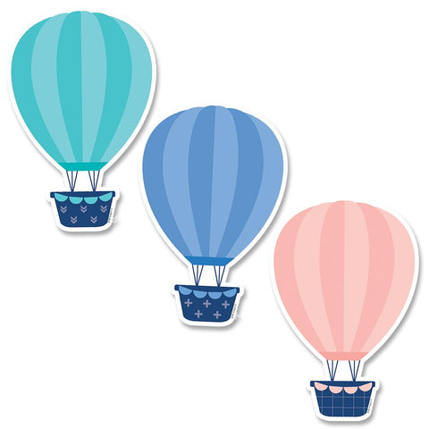 "HOT AIR BALLOONS 6"" DESIGNER CUT-OUTS (CC)"
