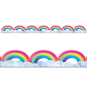 RAINBOWS & CLOUDS BORDER
