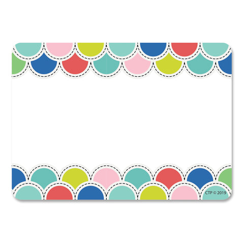 Color Pop Poppin' Scallops Labels