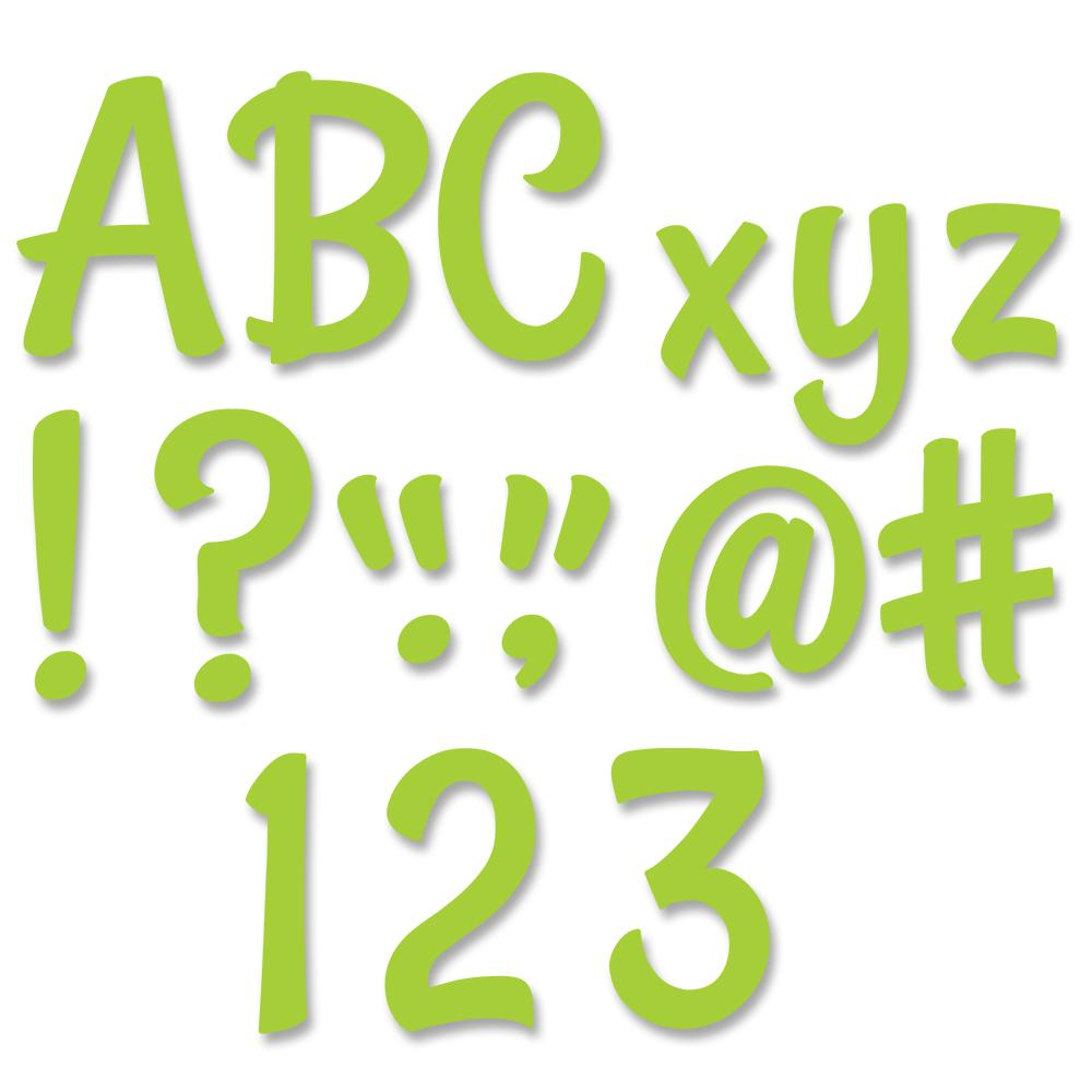 STYLISH LIME GREEN DESIGNER LETTERS
