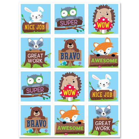 Woodland Friends Rewards Stickers