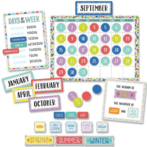 COLOR POP CALENDAR SET BULLETIN BOARD