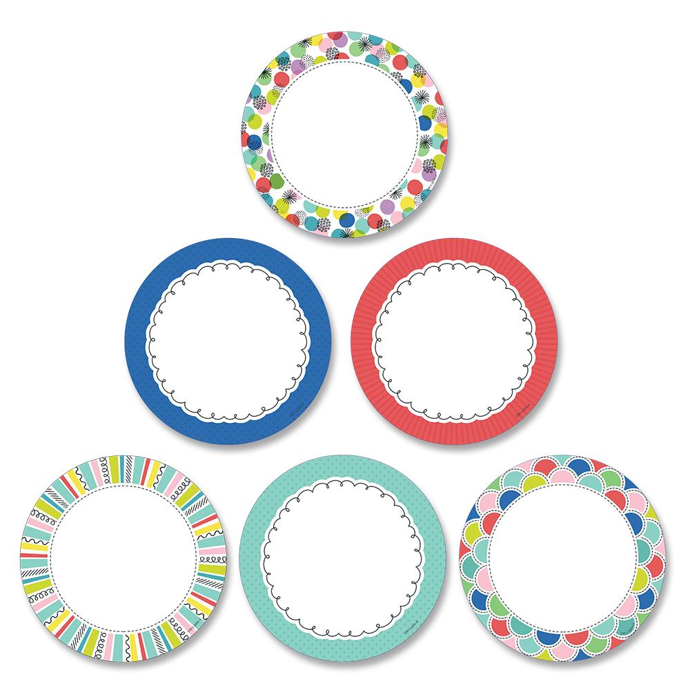 "COLOR POP DOTS 3"" DESIGNER CUT-OUTS"