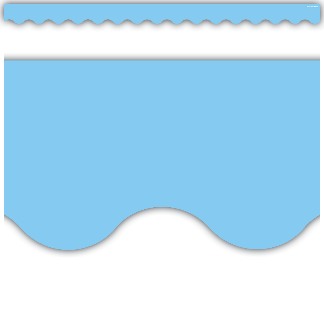 Light Blue Scalloped Border Trim
