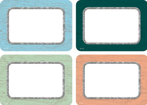 Painted Wood Name Tags/Labels - Multi-Pack