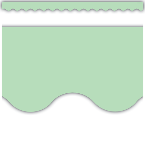 Mint Green Scalloped Border Trim