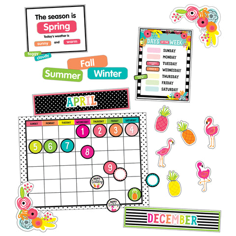 Schoolgirl Style™ Simply Stylish Tropical Pineapple Calendar Set