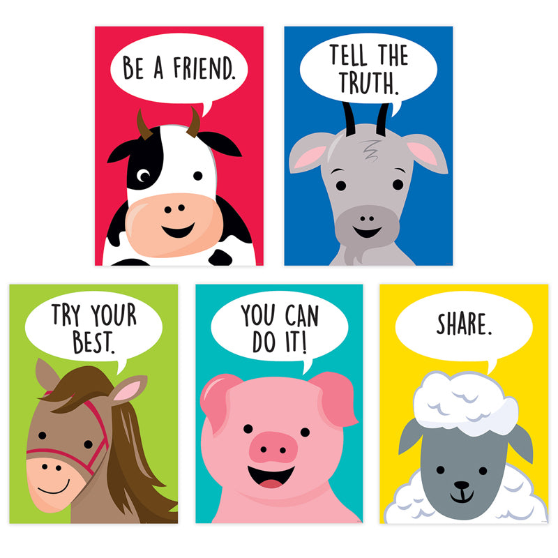 Farm Friends Inspire U 5-Poster