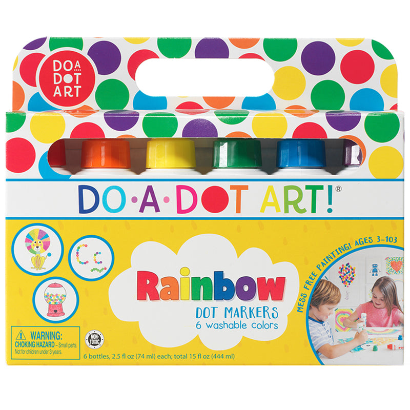 DO-A-DOT MARKERS RAINBOW PACK 6 CNT