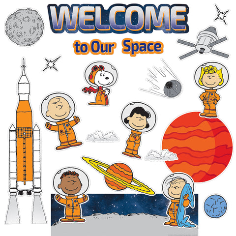 Peanuts® NASA Welcome Mini Bulletin Board Set