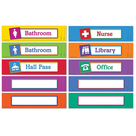 MAGNETIC HALLWAY PASSES SET OF 10
