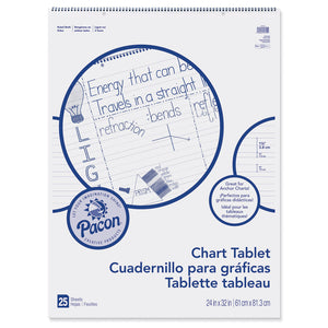 CHART TABLET 24X32 1-1/2 IN RULED