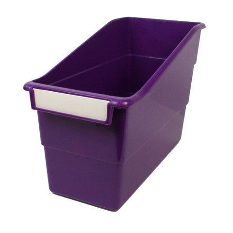 Tattle® Shelf File with Label Holder, Standard, Purple