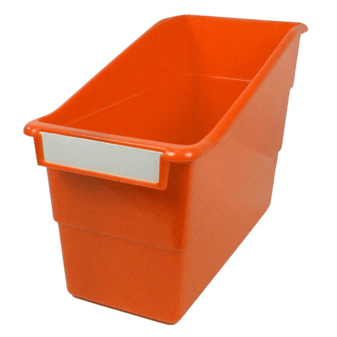 Tattle® Shelf File with Label Holder, Standard, Orange