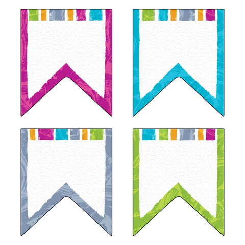 Color Harmony Pennants Cut Outs & Accents