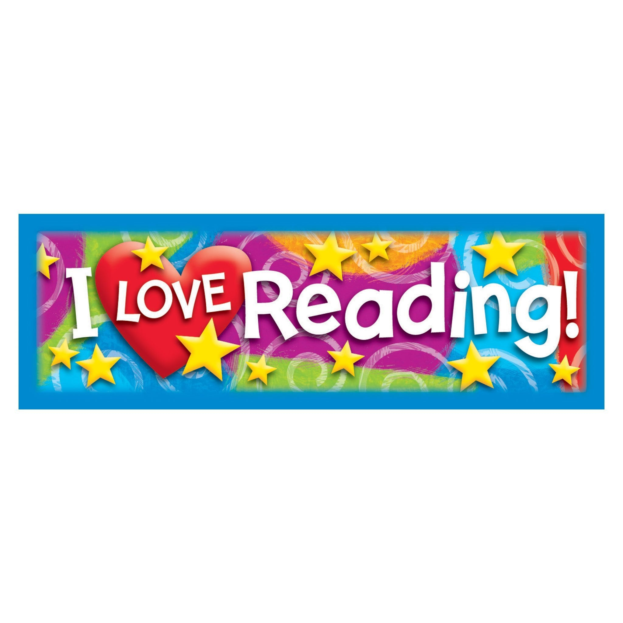 I LOVE Reading Stars 'n Swirls Bookmarks