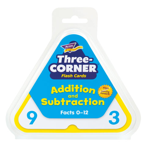 Addition and Subtraction Three-Corner® Flash Cards