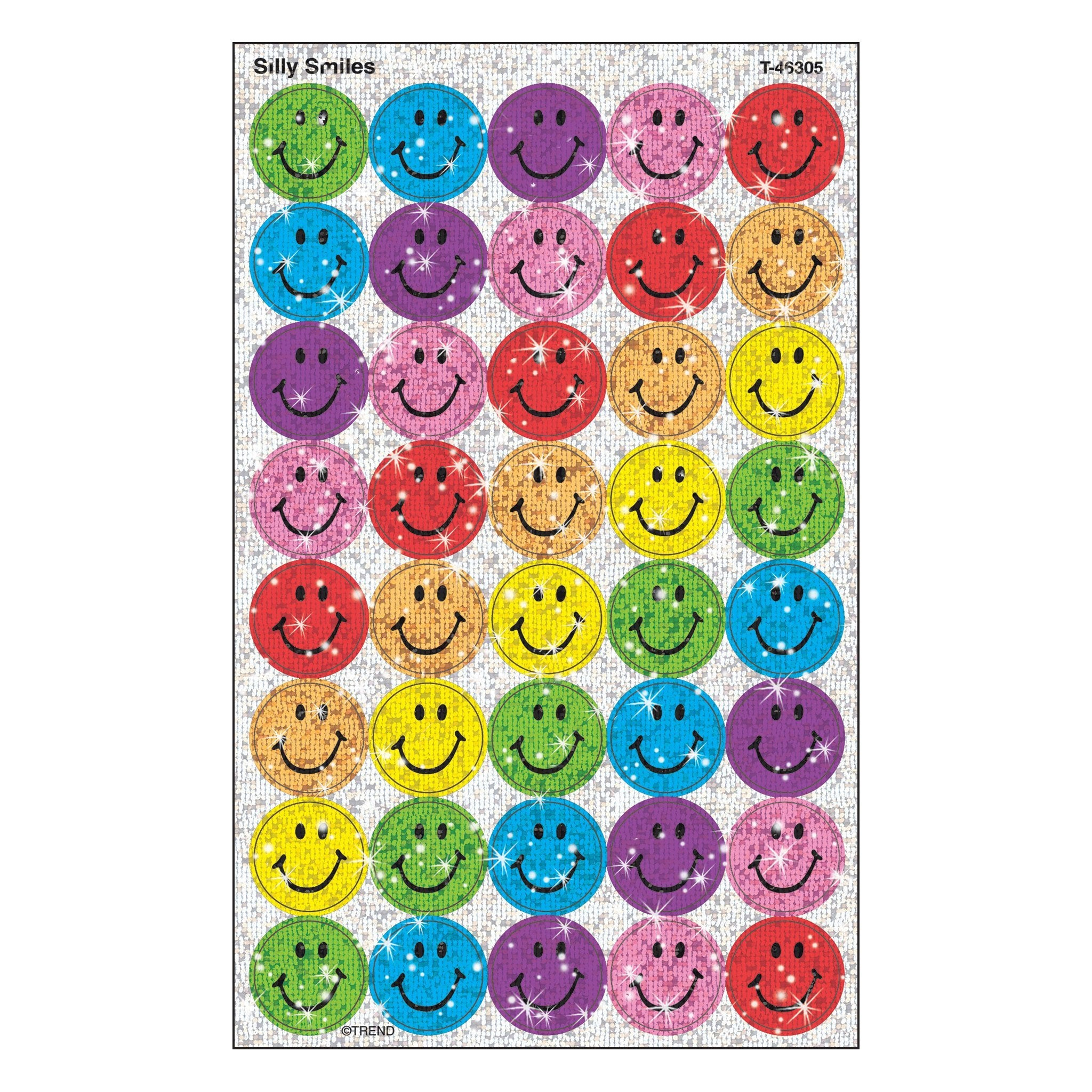 Silly Smiles Stickers-Sparkle