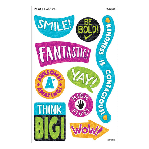 Color Harmony Paint It Positive Stickers - Large